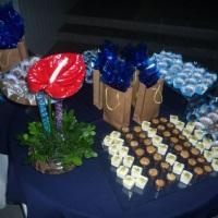 mesa de doces e lembranças de aniversário masculino
