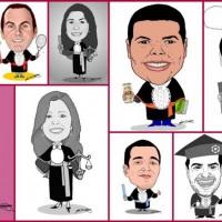 Caricatura de formandos M2LOPES para decorar a festa de formatura