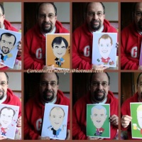 Encomendas de caricaturas para presentear seu amigo é com Marcelo Lopes de Lopes