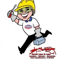 Mascote para empresas, criação do Desenhista Marcelo Lopes de Lopes