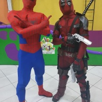 #spiderman #homemaranja #deadpool #vingadores #avengers  #personagensvivos #eshowpersonagensvivos