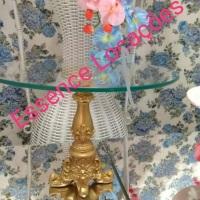 Peças com base dourada em arabesco p/ mesa de doces (99634-6882 whats)
