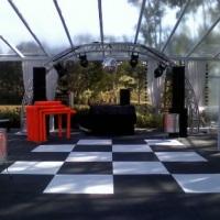tenda e pista de dança sob medidas