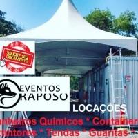 Locação tendas, geradores, gradil, unifilas, cadeiras e mesas, ventiladores, umidificadores