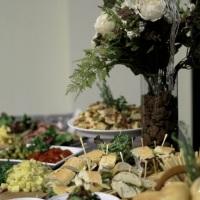 Coquetel Americano (Buffet) com mesa de frios e antipasto