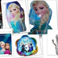 Vários modelinhos de balões da Frozen.