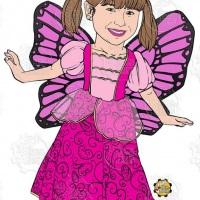 Caricatura de aniversário - Princesas