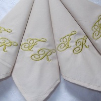 guardanapo de tecido personalizada com a sua imagem preferida ou bordado com suas iniciais