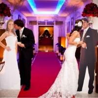 Totem de casamento em tamanho real dos noivos