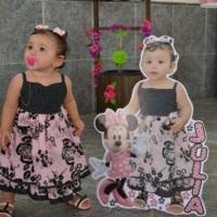 Totem infantil com a foto da criança em tamanho real