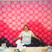Mural marrom e rosa