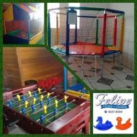 Espaço com brinquedos para FESTA INFANTIL