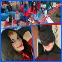Performance, Teatro, Brincadeiras e Oficinas de Máscaras com os Super Heróis.