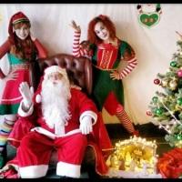 Papai Noel e Duendes. Para a Noite de Natal, Empresas, Eventos, Festas.