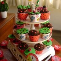 cup-cakes de joaninha