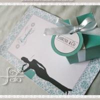 Festa bonequinha de Luxo/ Tiffany - cardápio e caixinhas para lembranças