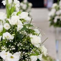 arranjo floral branco