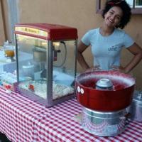 Maquina de pipoca e algodão-doce