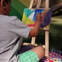 Pintura em tela (as telas podem ser lembrancinhas do aniversário)