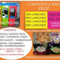 Casinha de lanches para Festas Infantis, minimo de 300 lanches variados, mini - Hamburguer - Italian