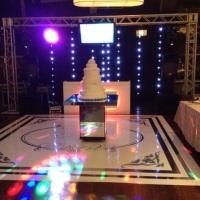 pista holografica - cortina de led