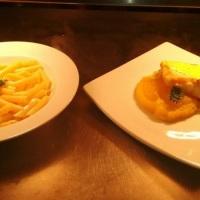 Garoupa com mandioquinha e limão siciliano.