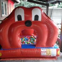 Piscina de bolinhas cachorrinho inflável... Os pequeninos amam...