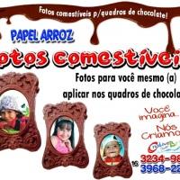 Foto comestíve quadro de chocolates