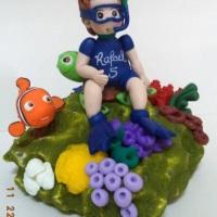 Topo de bolo personalizado Procurando Nemo em biscuit