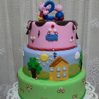 Bolo Peppa Pig biscuit