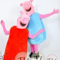 Peppa pig para festa infantil, pular em poça de lama, cantar e dançar com peppa e George.