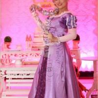Rapunzel para festa infantil e recepção de evento