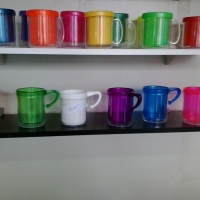 Caneca foto de acrilico- cores e modelos