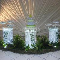 Mesa vidro iluminada