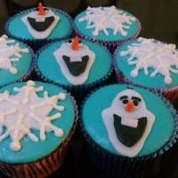 Cupcake temático (Frozen).