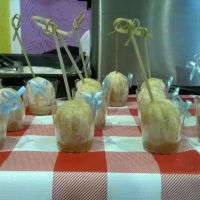 Nossos mini churros, servidos nas barraquinhas