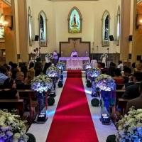corredor dos noivos com nossa Iluminação!