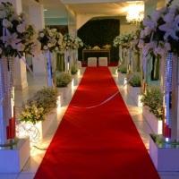Corredor dos noivos com nossa iluminação! Taliscas