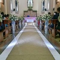 Igreja N.S Nazaré e nossa Iluminação no corredor.