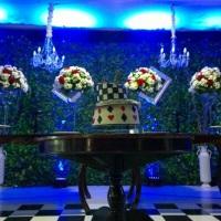 Espaço Karolina, mesa de doces e nossa bela iluminação