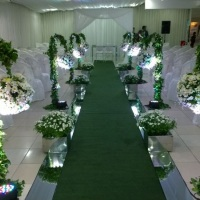 Corredor dos noivos lindo com nossa Iluminação!