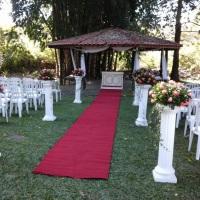 corredor para casamento ao ar livre