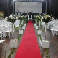 corredor decoração casamento igreja