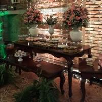 Decoração montada no Restaurante El Tiempo