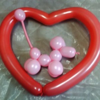 Balão Mania Cachorro e coração