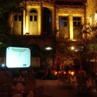 Telão e luz decorativa (Cais do Oriente - Praça XV)