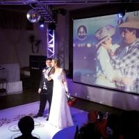 Casamento com pista em X Giovana e Rodolfo. GT Audio Sonorização Profissional
