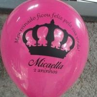 balão com tema