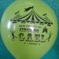 balão com tema de circo