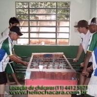 Chácara Altamira - salão de festas e salão de jogos c/ pebolim, snooker e ping-pong